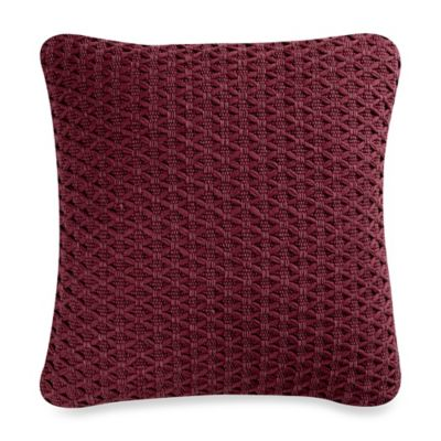 Windham Square Throw Pillow in Berry