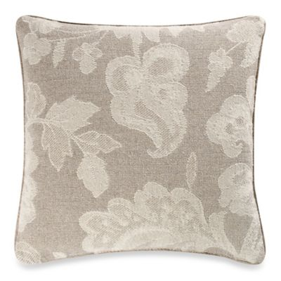 Alexa Floral Square Throw Pillow in Stone