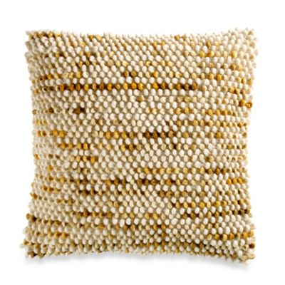 Baltra 18-Inch Square Throw Pillow in Mustard