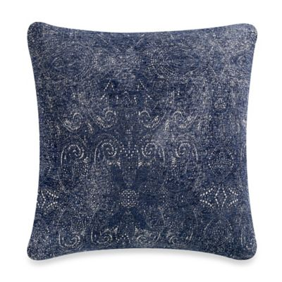 Covina 20-Inch Square Throw Pillow in Navy