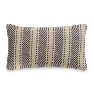 Quiet Oblong Throw Pillow in Indigo