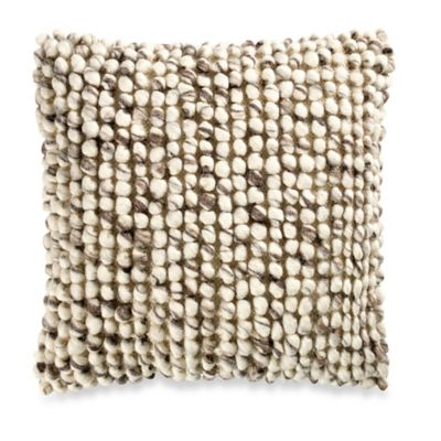 Tanner Square Throw Pillow in Latte