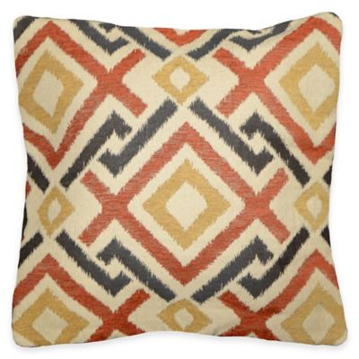 Boulder Square Throw Pillow in Rust