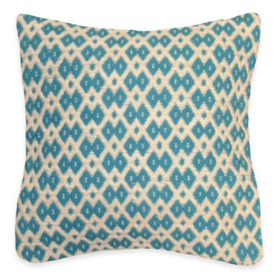 Shanti Square Throw Pillow in Teal