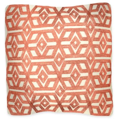 Napoli Square Throw Pillow in Rust
