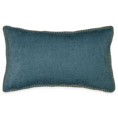 Andean Oblong Throw Pillow in Teal
