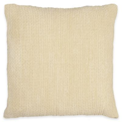 Brady Square Throw Pillow in Gold