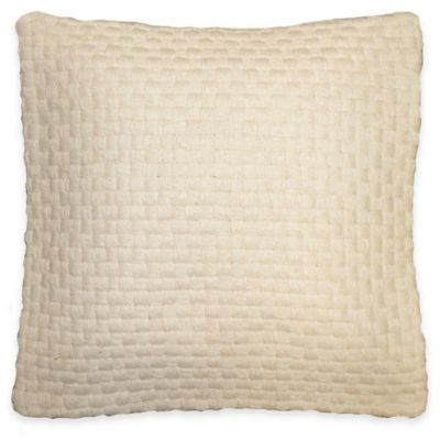 Corey Square Throw Pillow in Ivory