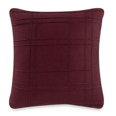 Kenneth Cole Reaction Home Pintuck Square Throw Pillow in Cranberry
