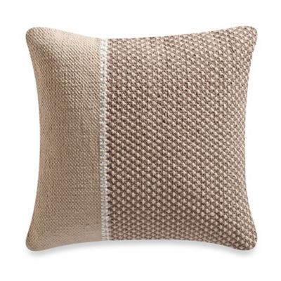 Kenneth Cole Reaction Home Colorblock Square Throw Pillow in Oatmeal