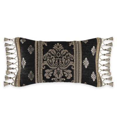 J. Queen New York Portofino Boudoir Throw Pillow in Black