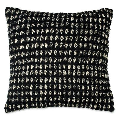 DKNY Subway Square Throw Pillow in Black/Ivory