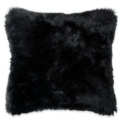 DKNY Subway Square Throw Pillow in Black