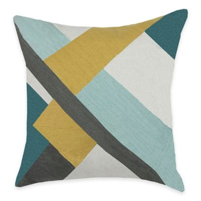 KAS ROOM Greta Split Stripe Square Throw Pillow