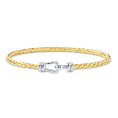 Charles Garnier Paolo Gold-Plated Sterling Silver Woven Hook and Eye Bracelet