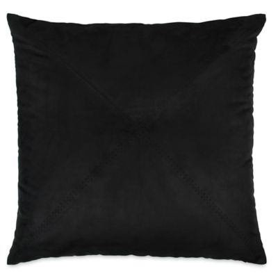 DKNY Subway European Pillow Sham in Black
