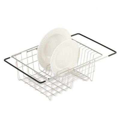 Polder® Expandable Over-the-Sink Stainless Steel Dish Drainer