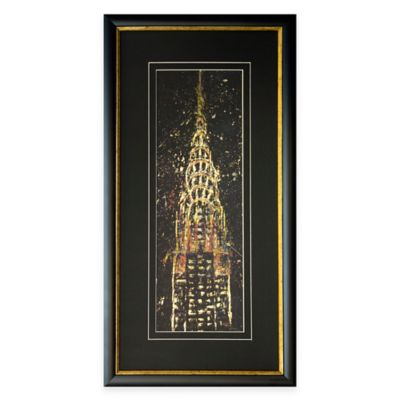 City At Night I Framed Wall Art