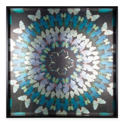 Graham & Brown Metallic Butterfly Kaleidoscope Framed Wall Art