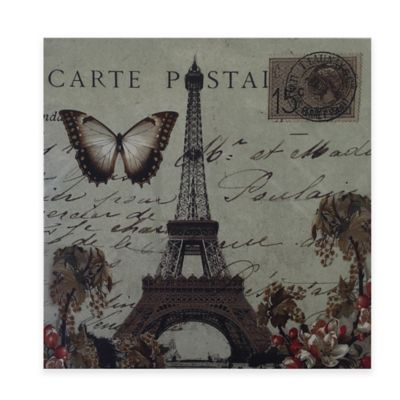 Vintage Paris Postcard Canvas Wall Art
