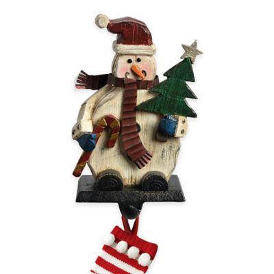 Woodland Snowman Stocking Hanger