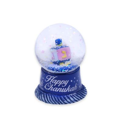 """""""Happy Chanukah"""" Menorah Mini Water Globe"""