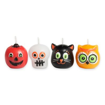 Mini Halloween Candle Assortment (Set of 4)