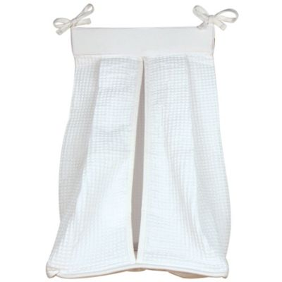 Trend Lab® Pique Diaper Stacker in White