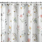 Lenox® Butterfly Meadow® 70-Inch x 72-Inch Fabric Shower Curtain