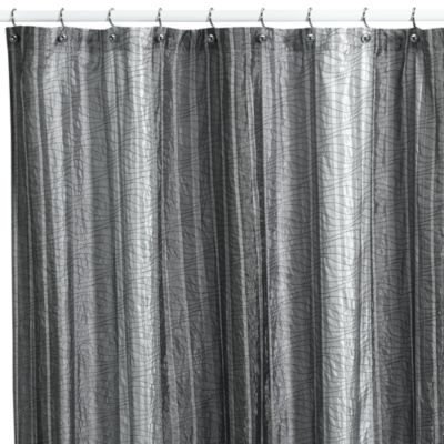 Buy Black Fabric Shower Curtain Stall Size from Bed Bath & Beyond