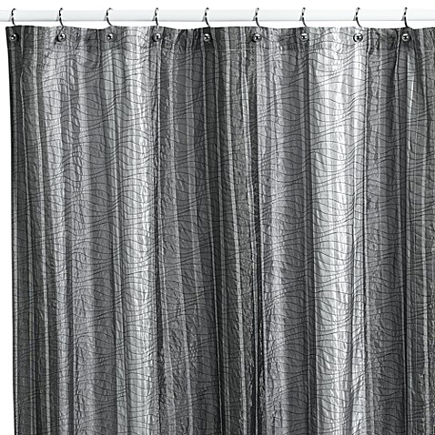 "Sierra Onyx 72"" x 84"" Fabric Shower Curtain by Manor Hill®"