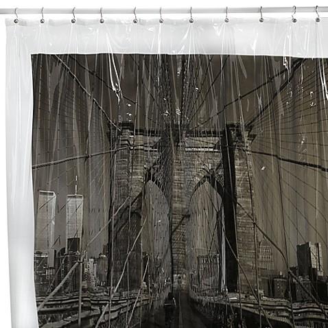 Buy Brooklyn Bridge New York City 72 Inch X 72 Inch Vinyl Shower Curtain From