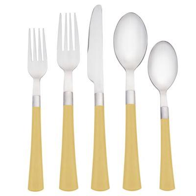 Noritake® Colorwave 5-Piece Flatware Place Setting in Mustard