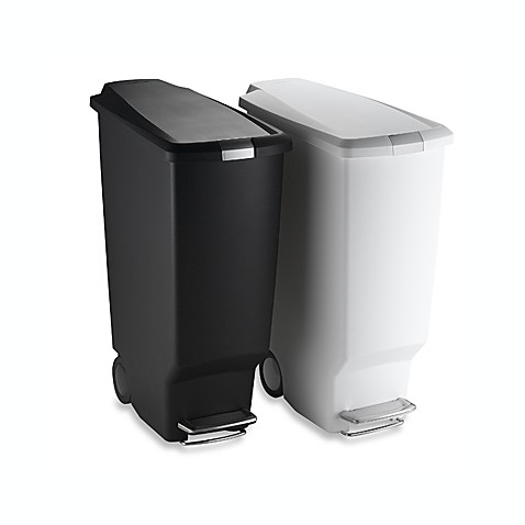 simplehuman® Slim Plastic Step Can