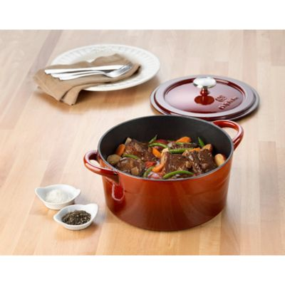 Simply Calphalon® Enamel Cast Iron 7-Quart Dutch Oven in Red