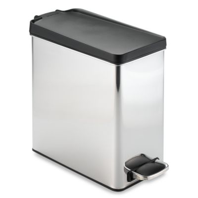 simplehuman® 10-Liter Profile Brushed Stainless Steel Step Trash Can