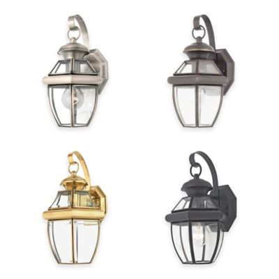Illumina Direct Oliver Small Wall-Mount Outdoor Lantern in Medici Bronze