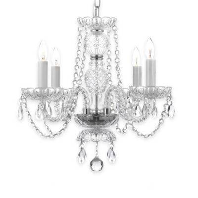 Gallery Venetian 4-Light Chandelier with Swarovski Crystals