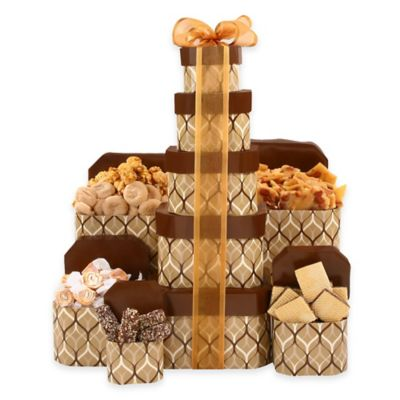 Golden Tower of Sweets and Treats