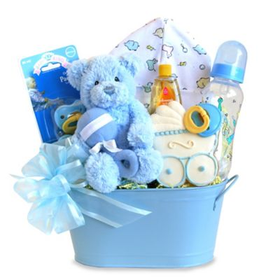Cuddly Welcome for Baby Boy Gift Set