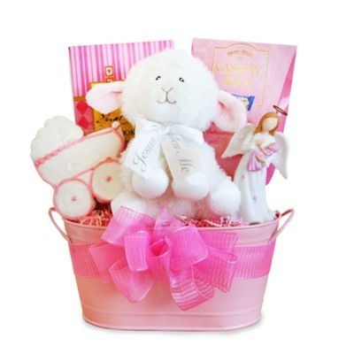 Christening Blessings Girl Gift Basket