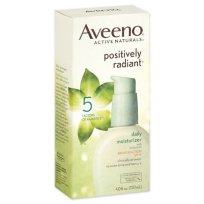 Aveeno® Positively Radiant® 4 oz. Daily Moisturizer Broad Spectrum SPF 15