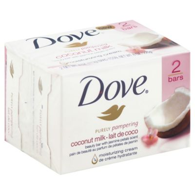 Dove® 2-Count 4 oz. Purely Pampering Beauty Bar in Coconut Milk with Jasmine Petals