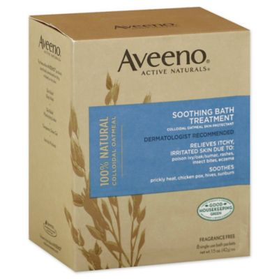 Aveeno® Active Naturals 8-Count 12 oz. Soothing Fragrance-Free Bath Treatment Packets