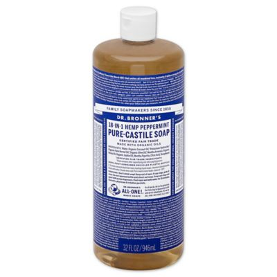 Dr Bronner's 32 oz. 18-in-1 Pure-Castile Liquid Soap in Peppermint