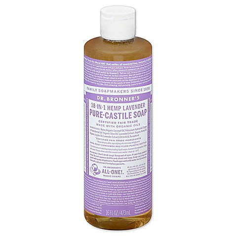 buy dr bronner 39 s 16 oz 18 in 1 pure castile liquid soap in lavender from bed bath beyond. Black Bedroom Furniture Sets. Home Design Ideas