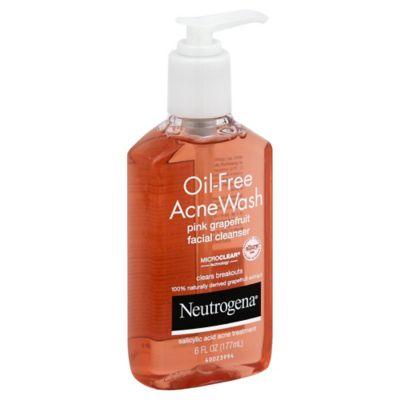 Neutrogena® 6 oz. Oil-Free Acne Wash Facial Cleanser in Pink Grapefruit