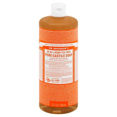 Dr Bronner's 32 oz. 18-in-1 Pure-Castile Liquid Soap in Tea Tree