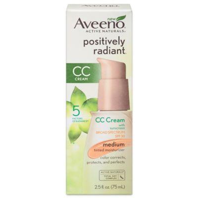 Aveeno® Positively Radiant® 2.5 oz. CC Cream Broad Spectrum SPF 30 in Medium