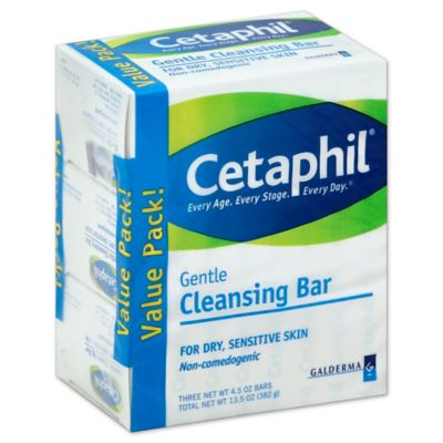 Cetaphil® 3-Count 4.5 oz. Cleansing Bar